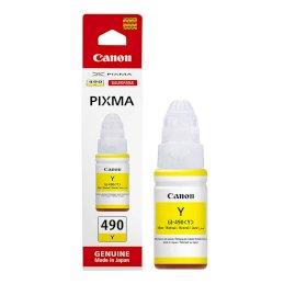 Tusz Canon GI-490  do  Canon PIXMA G1400/G2400/G3400   70ml   yellowTusz Canon GI-490  do...