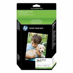 Zestaw sześciu tuszy foto HP 363 do Photosmart 3210/3310/8250 | 150 ark. fotoZestaw sześciu tuszy foto...