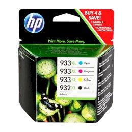 Zestaw czterech tuszy HP 933XL/932XL do OJ 7612/7110 | 1000(BK), 825(COL) | CMYKZestaw czterech tuszy HP...