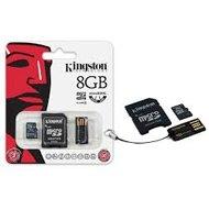 Kingston karta pamięci Micro SDHC Class 4 + czytnik USB2.0 + SD Adapter | 8GBKingston karta pamięci...