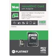 Platinet karta pamięci microSD class 10 + adapter SD | 16GBPlatinet karta pamięci...