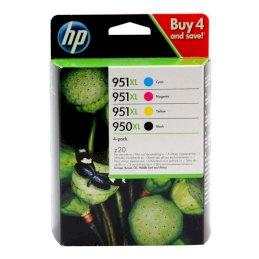 Zestaw czterech tuszy HP 950XL/951XL do OJ 8100/8600 | 2300(BK), 1500(COL) |CMYKZestaw czterech tuszy HP...