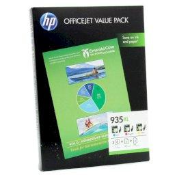 Zestaw trzech tuszy HP 935XL do Officejet Pro 6830 | CMY + papierZestaw trzech tuszy HP...
